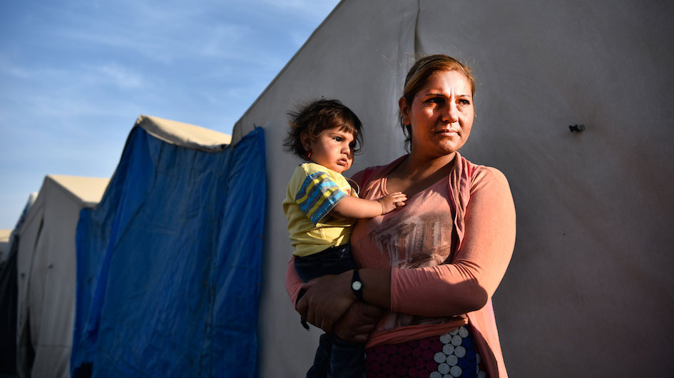 Mother and child in a camp in Kurdistan © Welthungerhilfe